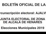 Noticia PDF Junta Electoral Elecciones Municipales 2019 en Ajalvir